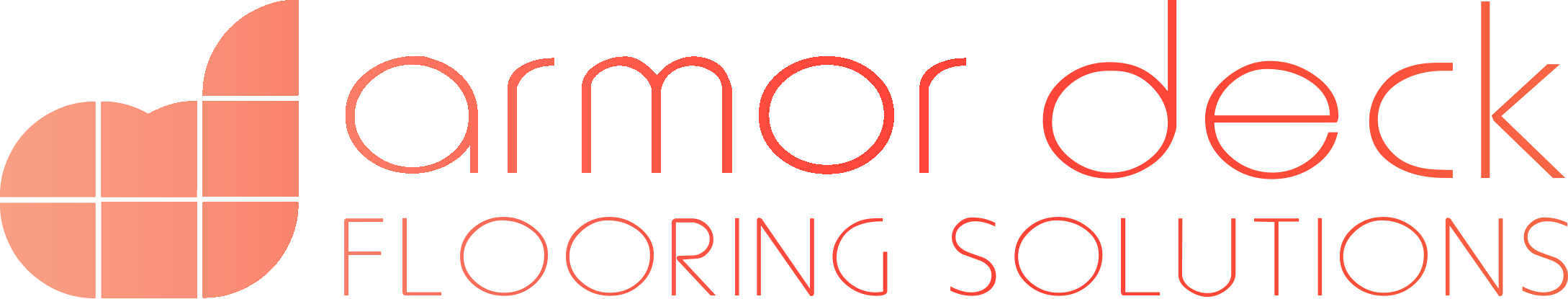 ARMOR DECK - Logo monocromo gradiente rojo - tarimas